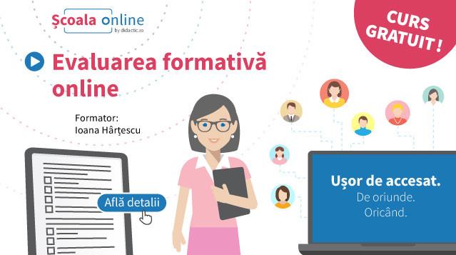 Resurse didactic.ro. Descoperiți noul curs: Evaluarea formativă online!