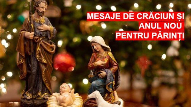 Mesaje de Crăciun și Anul Nou pentru părinți
