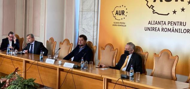 Marian Munteanu, fostul lider al studenților din anii 90, a participat la evenimentul dedicat lui Mihai Eminescu organizat de AUR în Parlament