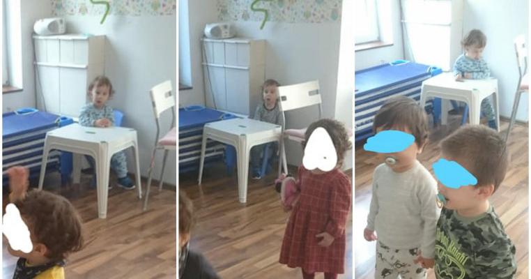 """""""L-am blocat la măsuță ca să nu muște alți copii"""". Soluția unei educatoare pentru un copil de 2 ani la o grădiniță din București"""