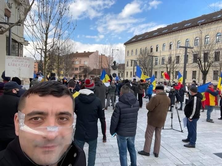 George Simion protestează la Cluj: 'Pentru Libertate'