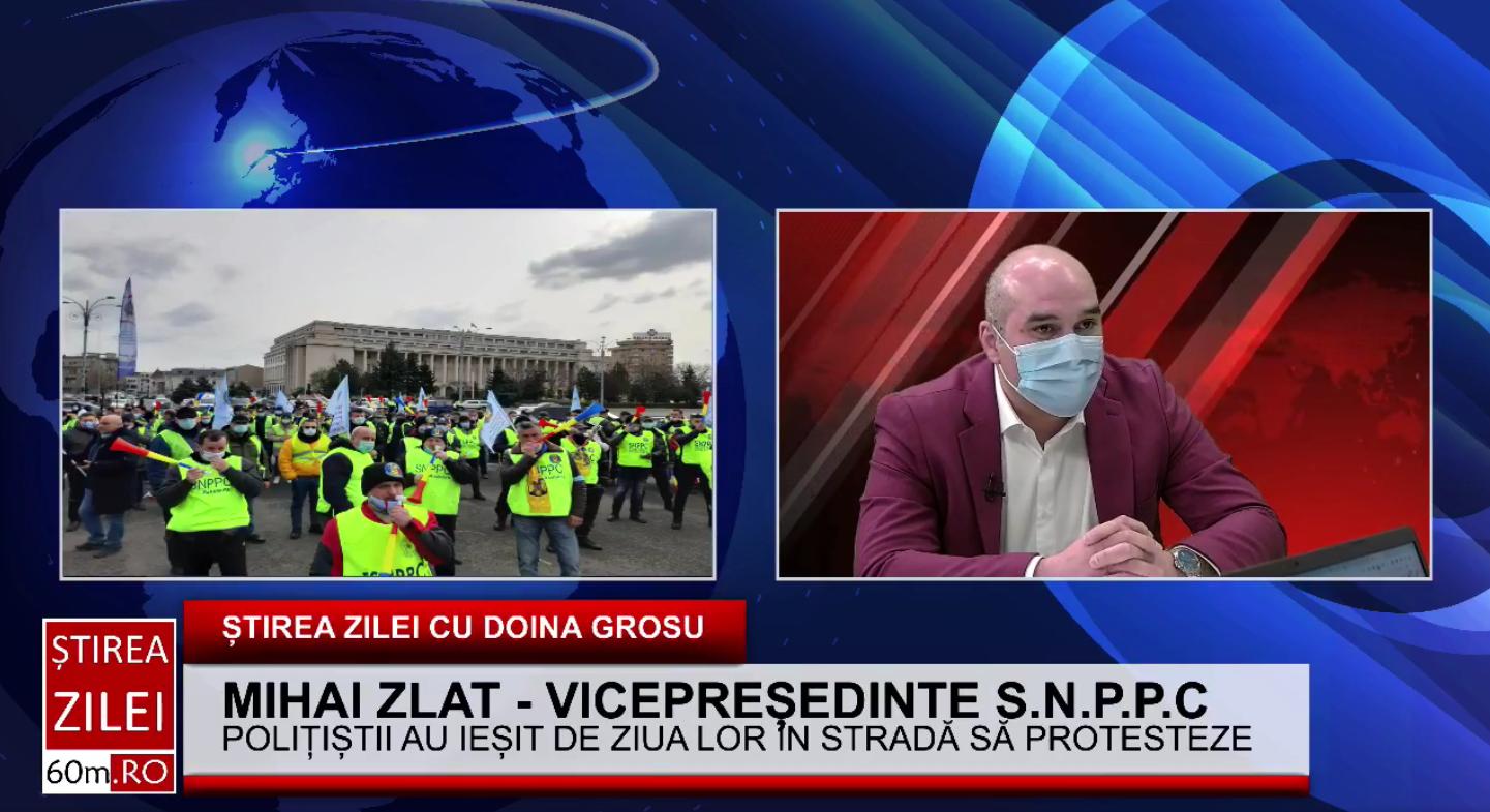 """Mihai Zlat, vicepreședinte S.N.P.P.C: """"Polițiștii au ieșit în stradă să protesteze pentru nerespectarea angajamentelor guvernului"""""""
