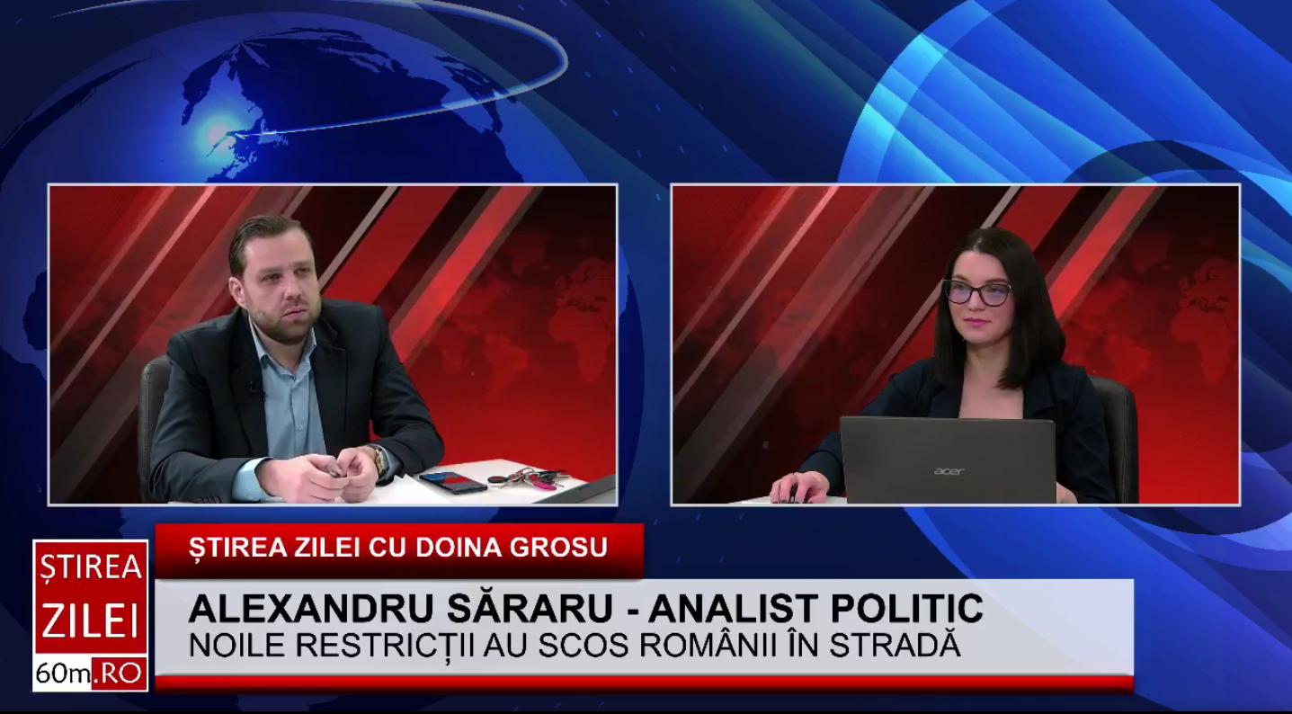 """Alexandru Săraru: """"Virusul are program dacă ne luăm după restricțiile guvernului"""""""