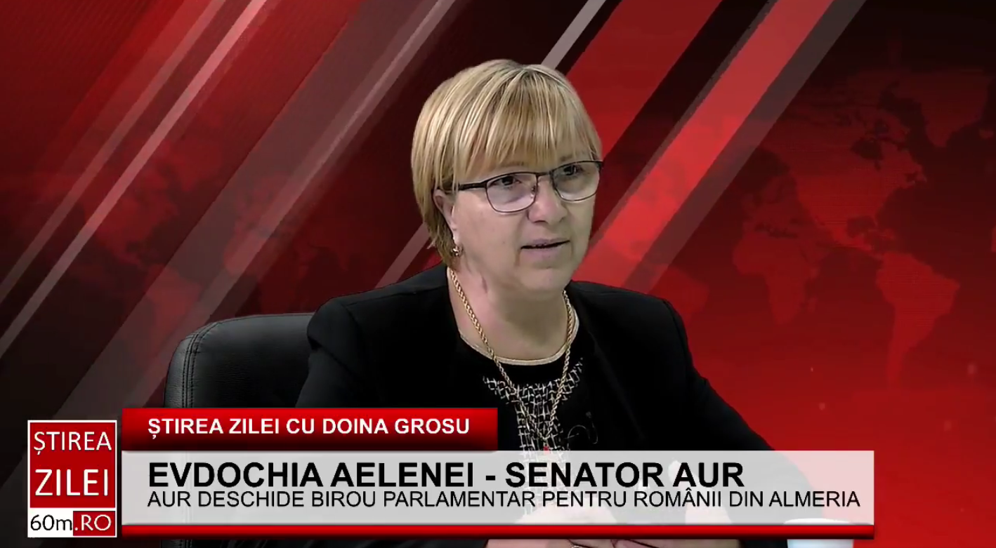 """Evdochia Aelenei(AUR): """"Am deschis un birou parlamentar în regiunea Almeria pentru românii cu dorul de familie și de România"""""""