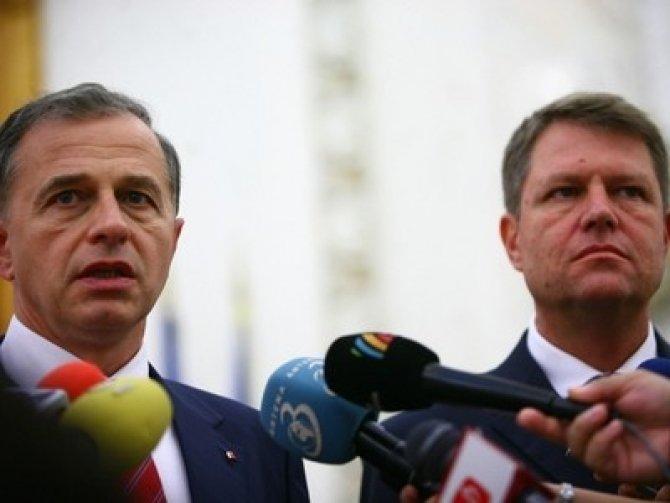 Klaus Iohannis s-a întâlnit cu Mircea Geoană la Cotroceni