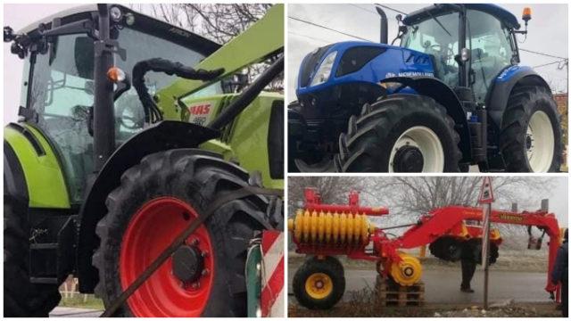 Două tractoare și un disc agricol au fost furate pe timpul nopții din curtea unei ferme din Timiș!