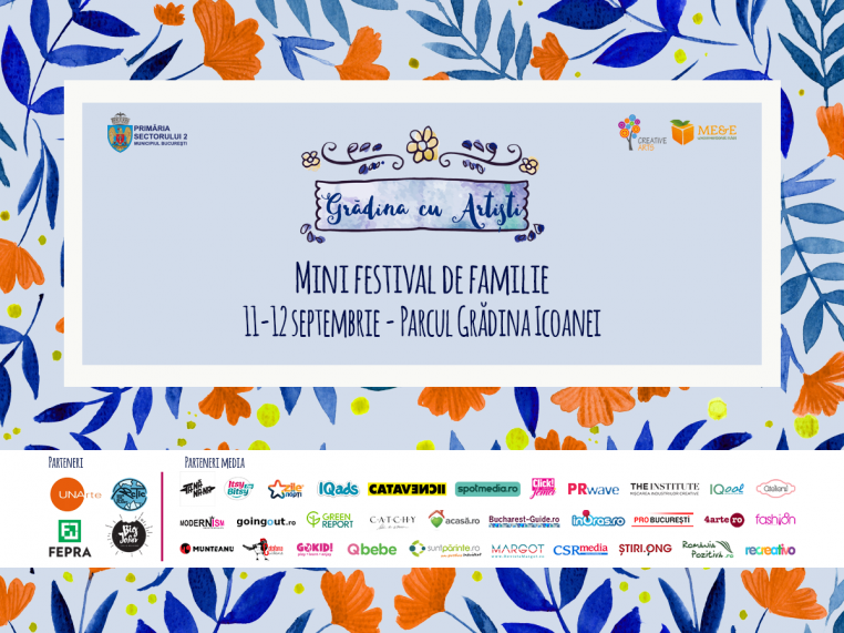 Concert, teatru pentru copii, ateliere și târg pe 11 și 12 septembrie la Grădina cu Artiști
