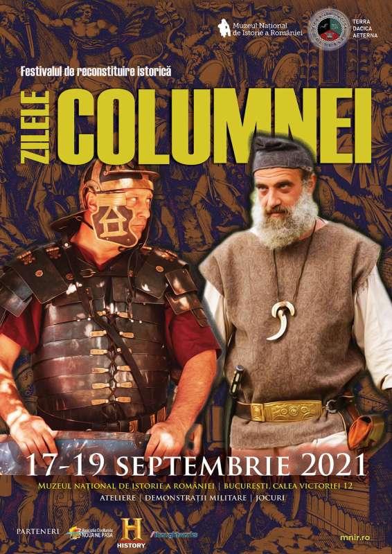 """17 – 19 septembrie: Festivalul de reconstituire istorică daco-romană """"Zilele Columnei"""" are loc la București"""