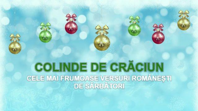 Versuri colinde de Crăciun 2020. Colinde românești care se cântă de Sărbători