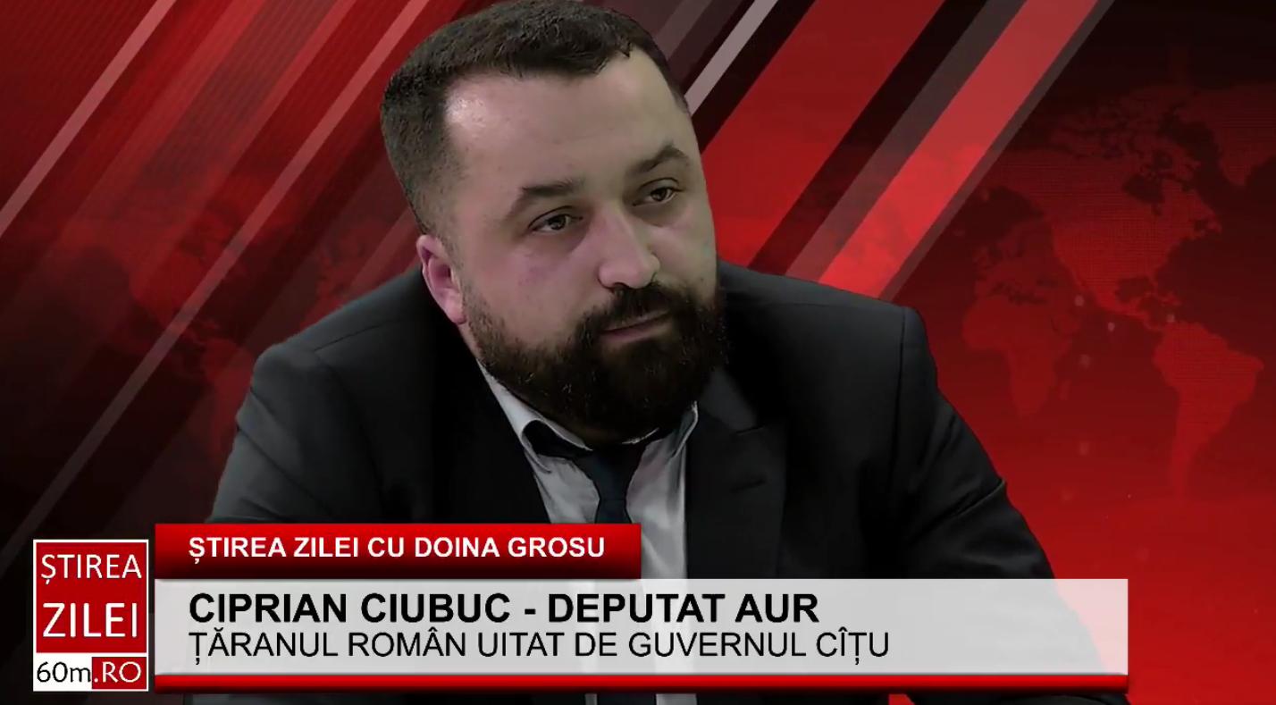 """Ciprian Ciubuc – deputat AUR Brăila: """"Guvernul i-a părăsit pe agricultori prin neacordarea subvenților"""""""