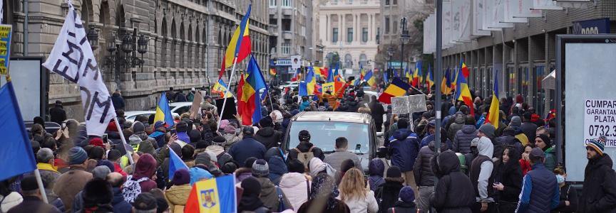 Sâmbătă, 10 aprilie, se anunță noi proteste împotriva restricțiilor. Din Piața Universității se pleacă spre Cotroceni