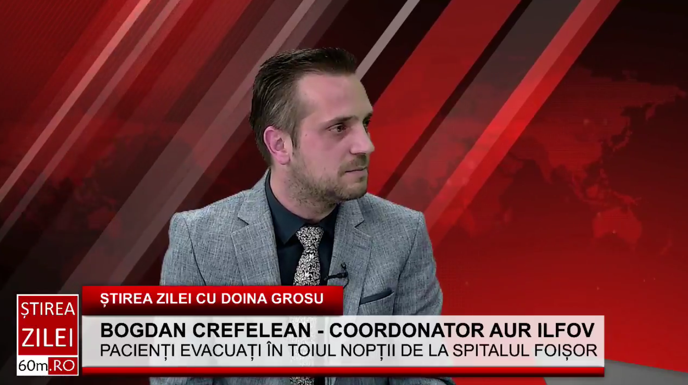 """Bogdan Crefelean (AUR): """"Este interes mare pentru banii din sistemul de sănătate și se vrea redirecționați în altă parte"""""""