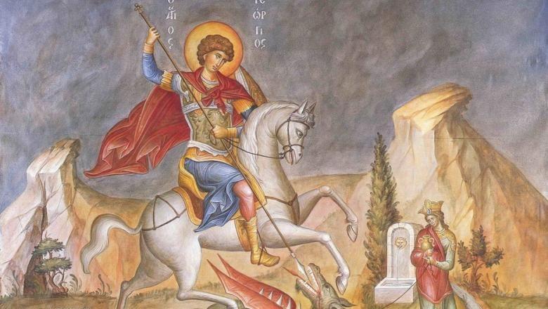 Calendarul zilei 23 aprilie: Sf. Mare Mucenic Gheorghe, purtătorul de biruință și ocrotitorul Armatei Române. Ce nume se sărbătoresc de Sf. Gheorghe