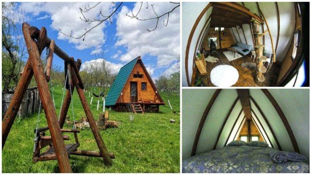 Cum arată cabana în stil scandinav construită la țară de doi tineri soți din Hunedoara