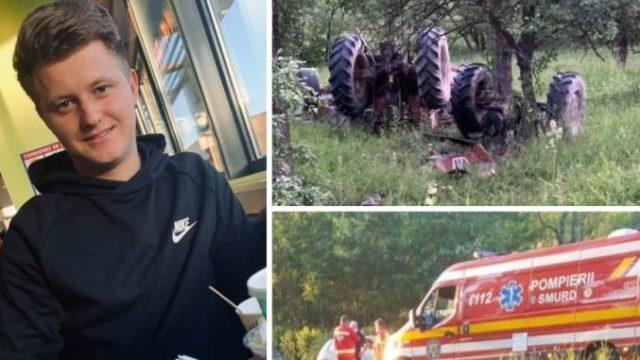 Tânăr de 21 de ani – decedat după ce tractorul pe care îl conducea s-a răsturnat