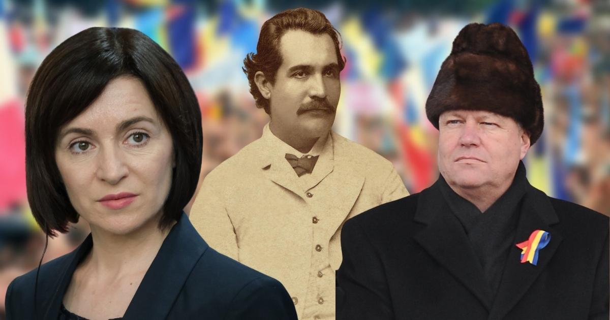 Poporul român, condus de doi mancurți: Iohannis și Sandu au uitat de Eminescu