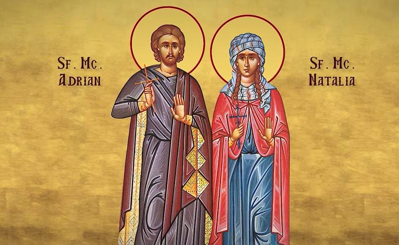 Calendarul zilei 26 august: Sfinții Adrian și Natalia, cei doi soți a căror dragoste a fost mai tare decât moartea și sunt ocrotitorii FAMILIEI